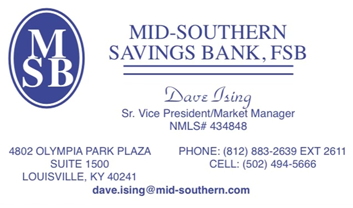 David Ising, Sr. VP Mid-Southern Savings Bank