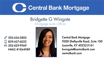 Bridgette Wingate, Central Bank Mortgage