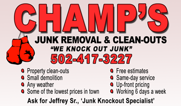 Champ's Junk Removal and Cleanout