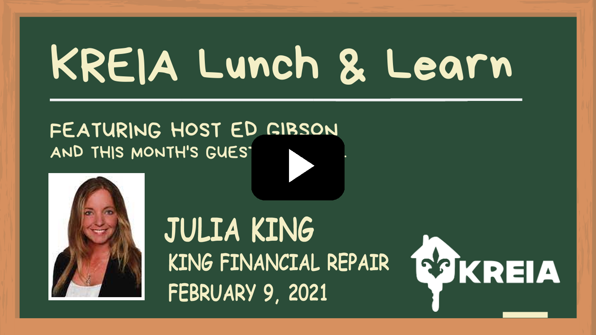 Lunch and Learn with Julia King