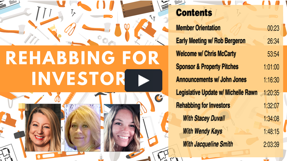 Rehabbing for Investors