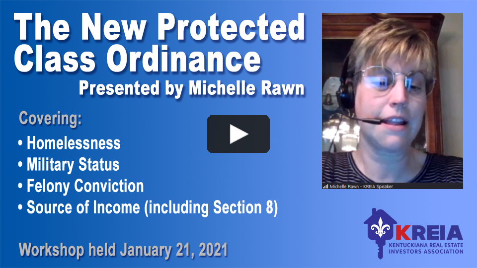 Michelle Rawn's New Protected Classes video replay